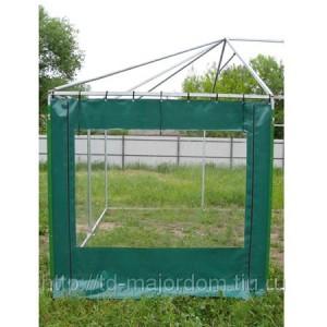 Стенка с окном на молнии к шатру 5х10 ПВХ